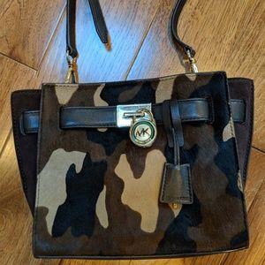 Michael Kors camo calf-hair messenger and wallet